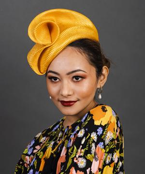 Designer hat Daisy by Louise Macdonald Milliner (Melbourne, Australia)