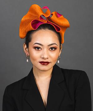 Designer hat Flux by Louise Macdonald Milliner (Melbourne, Australia)