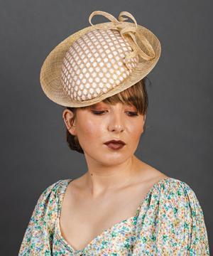 Designer hat Halycon Beret by Louise Macdonald Milliner (Melbourne, Australia)