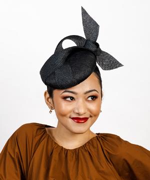 Designer hat Onyx Beret by Louise Macdonald Milliner (Melbourne, Australia)