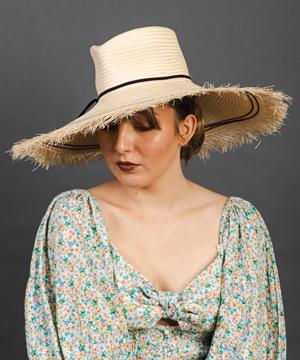 Designer hat Picnic Fedora by Louise Macdonald Milliner (Melbourne, Australia)
