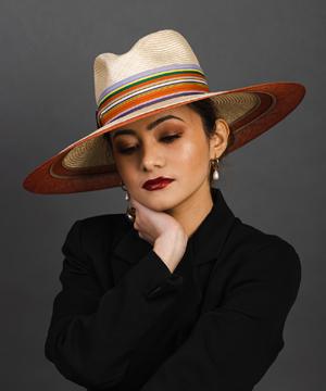 Designer hat Polo Fedora by Louise Macdonald Milliner (Melbourne, Australia)