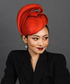 Designer hat Red Giulia Beret by Louise Macdonald Milliner (Melbourne, Australia)