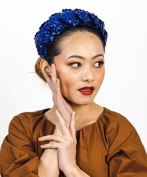 Designer hat Royal Aurora by Louise Macdonald Milliner (Melbourne, Australia)