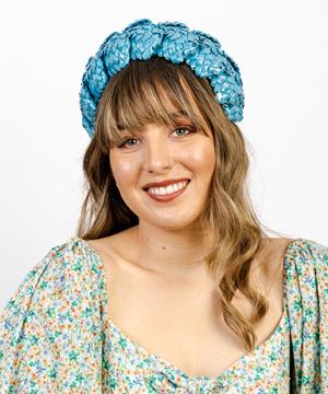 Designer hat Sky Blue Aurora by Louise Macdonald Milliner (Melbourne, Australia)