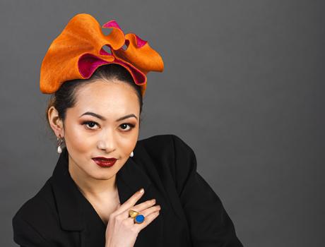 designer hat (Flux) by Louise Macdonald Milliner (Melbourne, Australia)