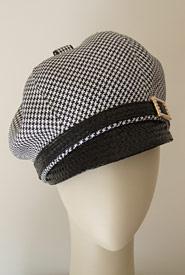 Fashion hat Bibi Cap Hounds by Melbourne milliner Louise Macdonald