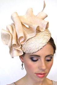 Fashion hat Calypso by Melbourne milliner Louise Macdonald