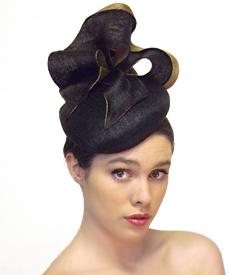 Fashion hat Black Chelsea, a design by Melbourne milliner Louise Macdonald