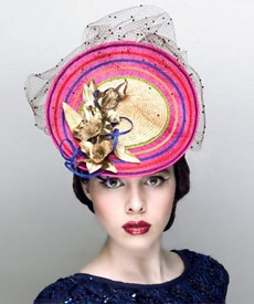 Fashion hat Grimaldi I, a design by Melbourne milliner Louise Macdonald