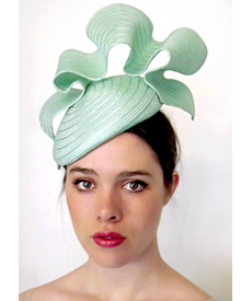 Fashion hat Mint Tunica Beret, a design by Melbourne milliner Louise Macdonald