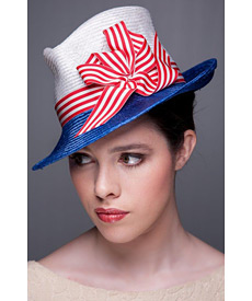 Fashion hat Capone, a design by Melbourne milliner Louise Macdonald
