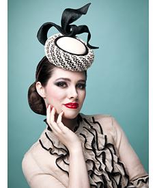 Fashion hat Elvis, a design by Melbourne milliner Louise Macdonald