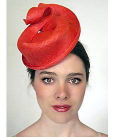 Fashion hat Coral Empire, a design by Melbourne milliner Louise Macdonald