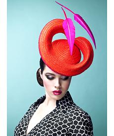 Fashion hat Jacksonville, a design by Melbourne milliner Louise Macdonald