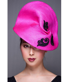 Fashion hat Kansas, a design by Melbourne milliner Louise Macdonald