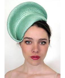 Fashion hat Mint Nola, a design by Melbourne milliner Louise Macdonald