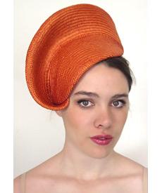 Fashion hat Orange Nola, a design by Melbourne milliner Louise Macdonald