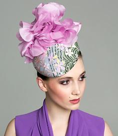 Designer hat Floral Agnes Beret by Louise Macdonald Milliner (Melbourne, Australia)