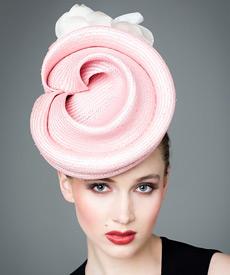 Designer hat Pink Albane by Louise Macdonald Milliner (Melbourne, Australia)