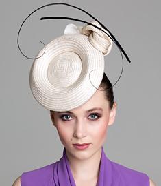 Designer hat Cream Odette Headpiece by Louise Macdonald Milliner (Melbourne, Australia)