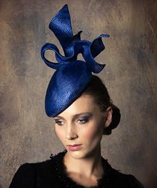 Designer hat Royal Lucie Beret by Louise Macdonald Milliner (Melbourne, Australia)
