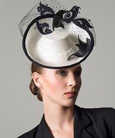 Designer hat Sea Shanty by Louise Macdonald Milliner (Melbourne, Australia)