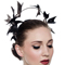 Fashion hat Black and Pewter Artemis Headpiece, a design by Melbourne milliner Louise Macdonald