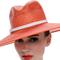 Fashion hat Orange Fedora, a design by Melbourne milliner Louise Macdonald