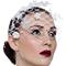 Fashion hat White Floral Birdcage Veil, a design by Melbourne milliner Louise Macdonald