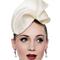 Fashion hat Kete Headpiece, a design by Melbourne milliner Louise Macdonald