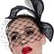 Fashion hat Black and White Paradise Birdcage Veil, a design by Melbourne milliner Louise Macdonald