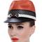 Fashion hat Orange Polo Cap, a design by Melbourne milliner Louise Macdonald