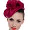 Fashion hat Sega Headpiece in Magenta, a design by Melbourne milliner Louise Macdonald