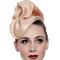 Fashion hat Sega Headpiece in Nude, a design by Melbourne milliner Louise Macdonald