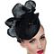 Fashion hat Black Sequin Headpiece, a design by Melbourne milliner Louise Macdonald