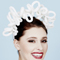 Fashion hat Harmony Halo in Ivory, a design by Melbourne milliner Louise Macdonald
