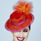 Fashion hat Joya Boater in Orange, a design by Melbourne milliner Louise Macdonald