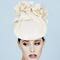 Fashion hat Rose in Natural, a design by Melbourne milliner Louise Macdonald