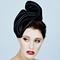 Fashion hat Shante, a design by Melbourne milliner Louise Macdonald