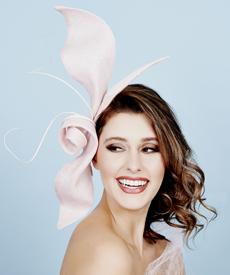 Fashion hat Angelique Headpiece, a design by Melbourne milliner Louise Macdonald