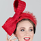 Fashion hat Apollo Bow, a design by Melbourne milliner Louise Macdonald