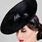 Fashion hat Black Luna, a design by Melbourne milliner Louise Macdonald