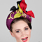 Fashion hat Calypso, a design by Melbourne milliner Louise Macdonald