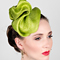 Fashion hat Lime Sega, a design by Melbourne milliner Louise Macdonald