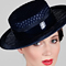 Fashion hat Navy Boater, a design by Melbourne milliner Louise Macdonald