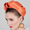 Fashion hat Orange Mona Turban, a design by Melbourne milliner Louise Macdonald