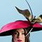 Fashion hat Amelia, a design by Melbourne milliner Louise Macdonald