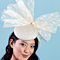 Fashion hat Betsy Bow in Cream, a design by Melbourne milliner Louise Macdonald