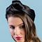 Fashion hat Black Turban Wrap, a design by Melbourne milliner Louise Macdonald